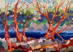 The Collection : Island - Abstract Landscapes by Teresa Smith - Artist Abstract Landscape, Wilderness, Oil On Canvas, Cathedral, Landscapes, Spirit, Sky, Island, Artist