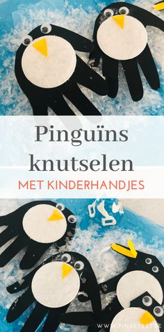 Hand penguin crafting - Hand penguin crafting with kids winter theme easy for preschoolers and toddlers - Animal Crafts For Kids, Winter Crafts For Kids, Winter Thema, Fox Crafts, Winter Diy, Snow Theme, Penguin Craft, Winter Art Projects, Footprint Crafts