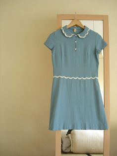 60's vintage dress. Love the collar so so much!