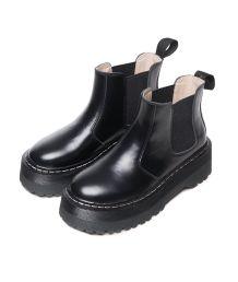 leather rainy black boots