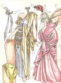 art nouveou paper dolls | Miss Missy Paper Dolls: Paper Dolls in the Style of Mucha