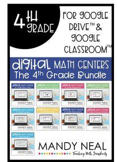 Fourth Grade Digital Math Centers Math Strategies, Math Resources, Classroom Resources, Classroom Ideas, Future Classroom, Fourth Grade Math, 4th Grade Classroom, Second Grade, Math Rotations