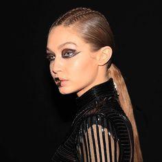 @gigihadid  shot by me backstage at @balmain AW17 / hair by @sammcknight1 makeup by @tompecheux #HairBySamMcKnight #PFW #Balmain