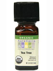 Aura Cacia- Tea Tree Organic Essential Oil .25 oz