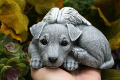 Jack Russell Terrier Angel Dog Statue Concrete por PhenomeGNOME
