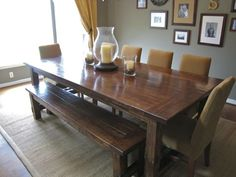 amazing dining room table *diy: I need my Dad to build this for me!