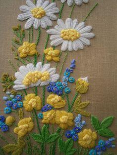 Hippie Mod Boho vintage Framed Burlap and Yarn by LittleMarthas, $30.00