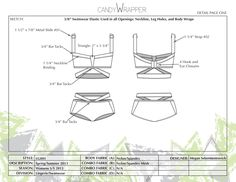 Two in One | Lingerie meets Swimwear by Megan Sekermestrovich, via Behance