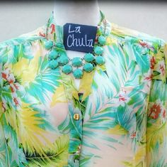 Versatile sheer blouse Check out this super fun, versatile top. Perfect for the office with a blazer on top, the weekend paired with shorts and sandals or to a coffe date with jeans and cute wedges. 3/4 sleeve optional, front pocket detail.  Www.facebook.com/lachulaboutiquesac  Instagram @lachulaboutique Tops Blouses