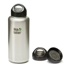 Klean Kanteen Wide Mouth Bottle with Stainless Steel Loop Cap
