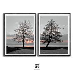 Landscape Photography, Nature Photography, Infinite Art, Winter Sunset, Coastal Wall Art, Tree Wall Art, Nature Tree, Landscape Prints, Wall Art Sets