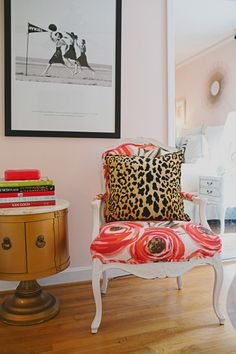 Love this #armchair - that #fabric is divine. {courtesy: @Design*Sponge}