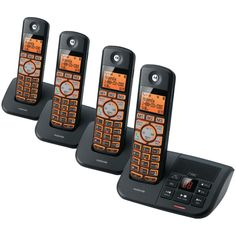 Motorola Dect 6.0 Cordless Phone System With Caller Id & Answering System (4-handset System)