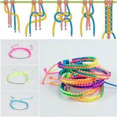 How to DIY Stylish Braided Bracelet A kész darab hosszának a négyszeresét kell a zsinórokból levágni. Tehát pl. 10 cm a karkötő,akkor 40 cm fonal szükséges.