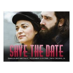 #Unique Claret Watercolor Photograph Save The Date Magnetic Card - #savethedate #wedding #love #card #cards #invite #invitation