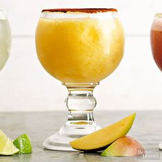 Treat your taste buds to a trip abroad with this sweet-and-spicy mango margarita. Coconut rum gives the cocktail tropical flavor, while a chili powder-dusted rim provides the heat. All that's missing is a tiny paper umbrella.