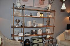 Stanley Furniture --- Industrial Shelving Dressed up! TheHome.com #hpmkt