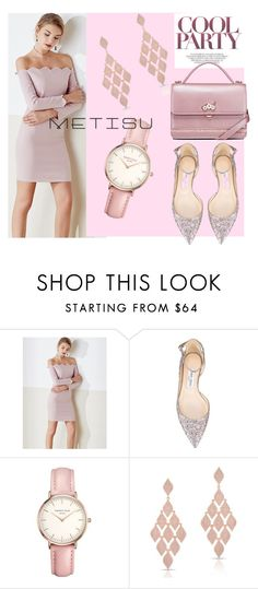 """""""Party Look"""" by metisu-fashion ❤ liked on Polyvore featuring Jimmy Choo, Topshop and Anne Sisteron"""