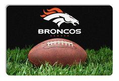 Denver Broncos Classic NFL Football Pet Bowl Mat - L