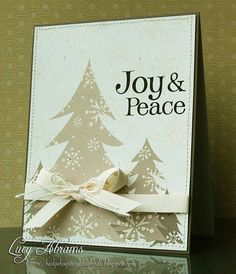 Joy and Peace - love the colors and the softness of this card (Lucy Abrams)