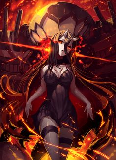 Anime,аниме,Anime Art,Аниме арт, Аниме-арт,Kantai Collection,KanColle,Battleship-symbiotic Hime,Shinkaisei-kan,geeto gaadian