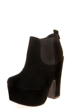 Zona Suedette Elastic Insert Chunky Shoe Boots