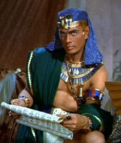 """Yul Brynner as Pharoah Rameses in """"The Ten Commandments"""". Costumes by Arnold Friberg, Edith Head, Dorothy Jeakins, John Jensen and Ralph Jester."""
