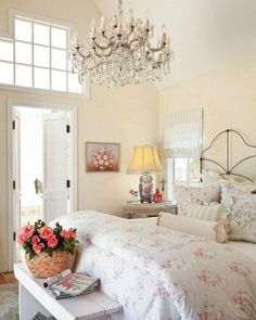 35 Amazingly Pretty Shabby Chic Bedroom Design and Decor Ideas - The Trending House Shabby Chic Bed Linen, Shabby Chic Bedrooms, Shabby Chic Homes, Shabby Chic Furniture, Shabby Chic Decor, Shabby Chic Colors, Modern Shabby Chic, Farmhouse Bedrooms, Rustic Bedrooms