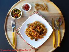 Il Pomodoro Rosso di MAntGra: Penne mediterranee con prosciutto cotto