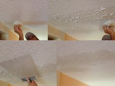 How to Texture A Ceiling with Joint Compound . How to Texture A Ceiling with Joint Compound . Ceiling Texture Types & How to Choose Drywall Finish for Fancy Ceiling Fan, Silver Ceiling Fan, Ceiling Fan Pull Chain, Ceiling Fan Price, Hunter Ceiling Fans, Led Ceiling, Ceiling Ideas, Ceiling Detail, Ceiling Design