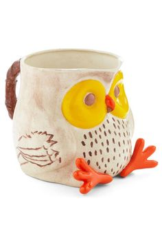 adorable owl pitcher