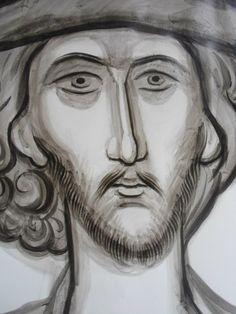 Frescele lui Alexandru Soldatov (Partea a Byzantine Icons, Orthodox Icons, Fresco, My Arts, Drawings, Byzantine Art, Fresh, Sketches, Drawing