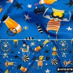 Under The Big Top Fabric by Heather Dutton © Hang Tight Studio #spoonflower