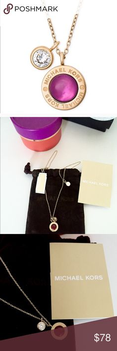 MK Necklace This is a beautiful necklace, red stone with tags. You'll receive the necklace as seen in las three pictures! Comes with dust bag! Jewelry Necklaces