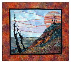 Gorgeous landscape quilt by Patti Hyder