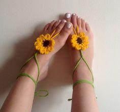 Barefoot sandals crochet barefoot sandals by CrochetedByParis, £8.99