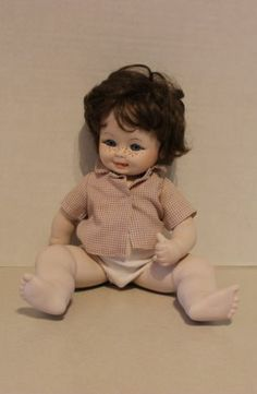 Cute German Repro Kestner K H Boy Baby Doll w Freckles ~ Anatomically Correct