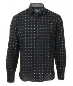 Buy House of Lords Black Gimlet Dress Shirt: Check out this beautiful new fashion button down from House of Lords Clothing. House of Lords has...