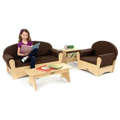 NEW Jonti-Craft Komfy Sofa Set for classroom reading areas or the children's section of your library.