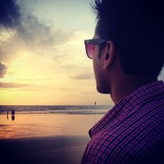 """""""Day 94: Happiness is a sunset on one of the best beaches I've been to in Goa."""""""