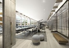 reflective ceiling gym design - Google Search