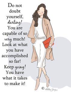 Wall Art for Women - Do Not Doubt Yourself Darling- Wall Art Print - Digital Art…