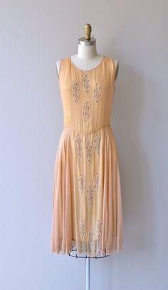 French Aperitif beaded dress silk 1920s dress by DearGolden