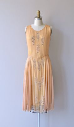 French Aperitif beaded dress silk 1920s dress by DearGolden