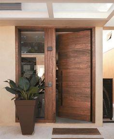 Modern Glass Front Door Entrance Interior Design Ideas For 2019 Door And Window Design, Home Door Design, Wooden Door Design, Wood Interior Design, Main Door Design, Front Door Design, Front Door Decor, Entrance Design, Exterior Design
