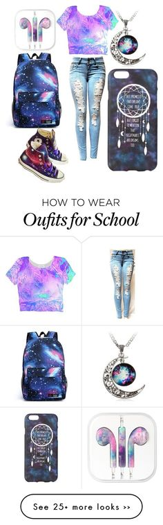 School galaxy outfit by fashionforeveeer on Polyvore