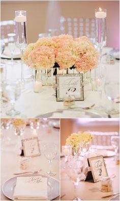 A Romantic Tampa Wedding with Perfect Elegant Details. #white_hydrangea_wedding_centerpiece