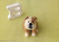 Felt Dog Japanese Craft Book for Needle Wool by JapanLovelyCrafts