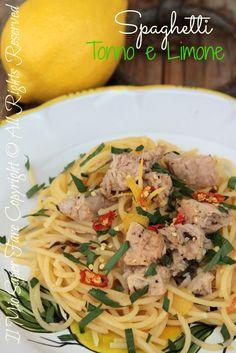 Spaghetti tonno e limone | Primo piatto veloce