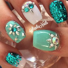 Teal white acryl instagram photo teal instagram and diamonds